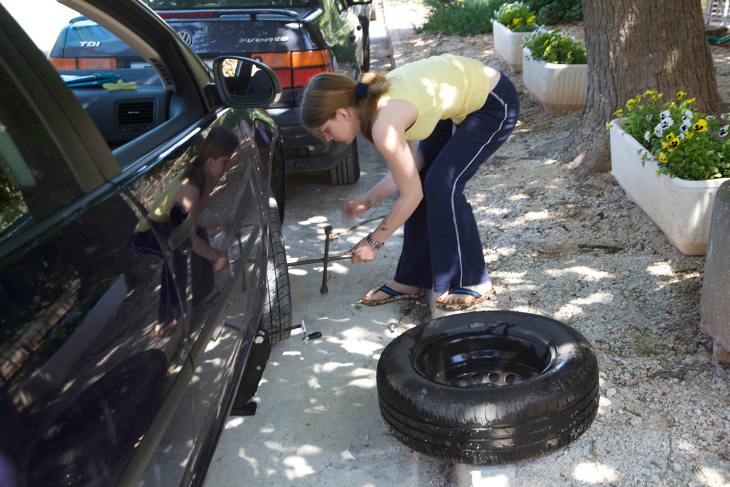 The Lady Who Fixes Tires